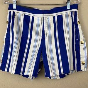 "• Banana Republic • 5"" Ryan Sailor Striped Shorts"